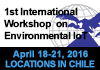 1st International Workshop on Environmental IoT. March 21-24, 2016, Santiago, Coyhaique, Aysén, Patagonia, Chile